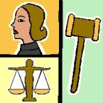 women, gavel and scales