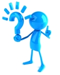 Blue Question Mark Man